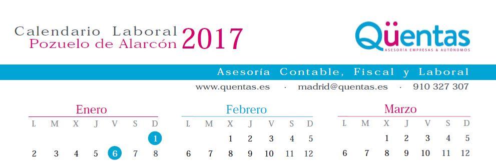 Calendario laboral Pozuelo de Alarcon 2017