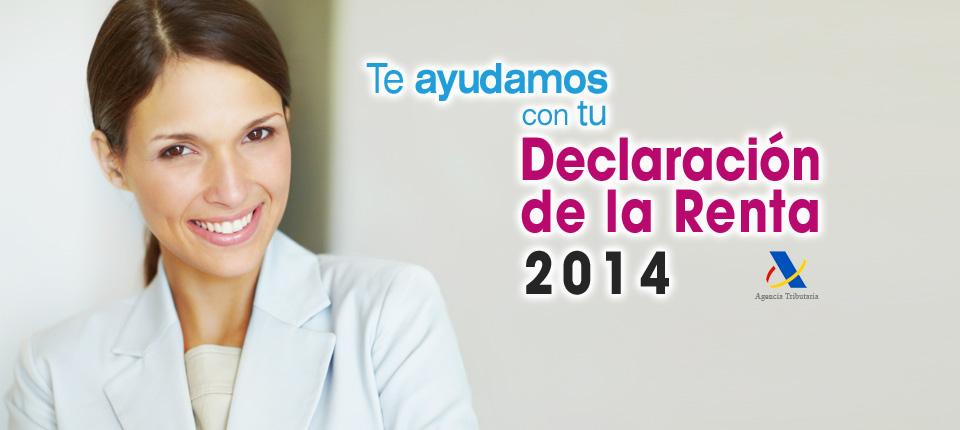 Declaración de la renta 2014 Valladolid y Pozuelo de Alarcón