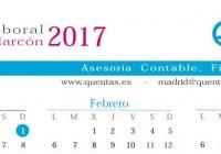 Calendario laboral Pozuelo de Alarcón 2017
