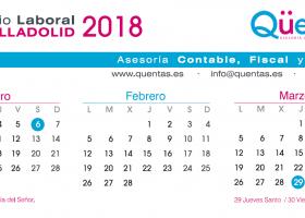 Calendario Laboral de Valladolid 2018