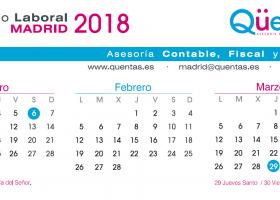 Calendario Laboral de Madrid 2018